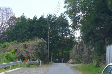 岡崎 支障木伐採 現場 入り口完了
