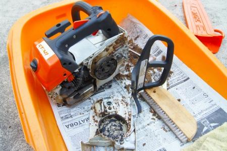 STIHL MS201TC 掃除